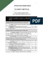 Resumen Examen Mental