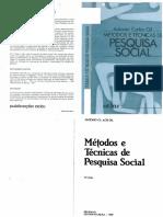 GIL, Antonio Carlos - Métodos e Técnicas de Pesquisa Social 2ª Edição