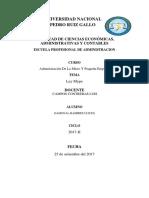 Características de La Micro y Pequeñas Empresas