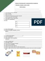 Examen Tecnología Énfasis en Preparación y Conservación de Alimentos