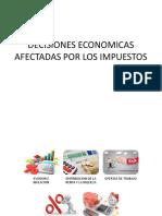 Decisiones Economicas Afectadas Por Los Impuestos