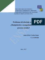 ENSAYO Maestria Orientación. Problemas Del Abordaje Social.