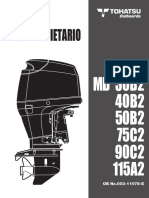 Tohatsu Outboards - Manual Usuario -40B2 50B2 75C2 90C2 115A2 003-11075-E SPANISH