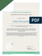 john fernandez - ihi certificate
