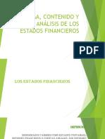 Forma, contenido y análisis de los Estados Financieros