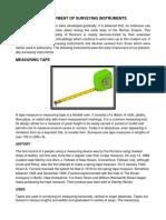 Development of Surveying Instruments