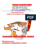 Catalog of Wire Nail Making Machines