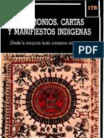 Testimonios y cartas indígenas