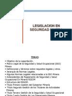 Legislacion en Seguridad Minera 2016