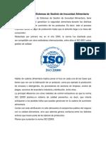 Norma ISO 22000 Sistemas de Gestión de Inocuidad Alimentaria