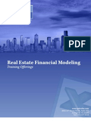 Real Estate Financial Modeling Training Brochure | Internal Rate Of