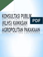 Konsultasi Publik Kawasan Agropolitan PAKAKAAN