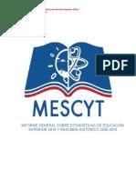 Mescyt Informe Estadístoca Universidades República Dominicana 2015-2016