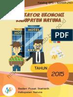 Indikator Ekonomi Kabupaten Natuna Tahun 2015