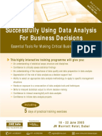 Successfully Using Data Analysis for Business Decicions