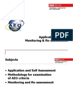 AEO Application Process Monitoring