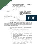 Aafidavit of Jhay Mil Balgos