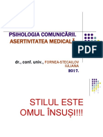 Psihologia comunicarii. Asertivitatea_2017.ppt