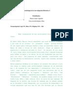 Metodología de La Investigación Histórica I