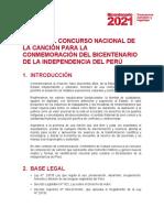 Bicentenario Perú 2021 Concurso Cancion