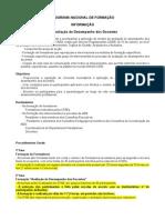 PROGRAMA NACIONAL DE FORMAÇÃO - explicação