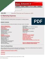 SPP 6.4 Marketing Expenses