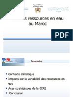 Etat Des Ressources en Eau au Maroc