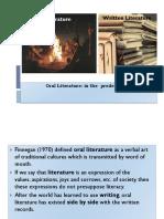 Fundamentals of Literature Oral Literature