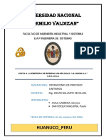 Informe DE EMBOTELLADORA LA UNION S.A. CELUSA