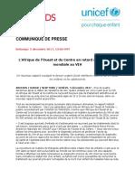 UNICEF-OnUSIDA Rapport Régional Sur Le VIH - CP Conjoint_Final FR