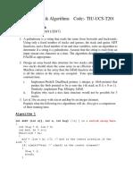 DSA Written Assignment