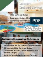 Learner Centered Design