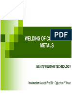 Welding of Commercial Metals