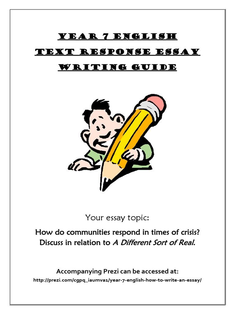 how to write a good text response essay