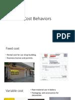 Cost Behaviors