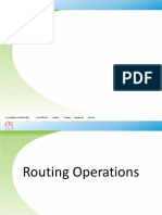 Routing Operations Mangager
