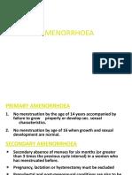 AMENORRHOEA