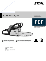 Stihl Ms 170 180 Owners Instruction Manual