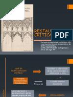 Conserva. Restauracion Critica