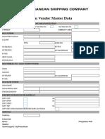 Form Vendor Master Data