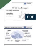 Mars 2020 Mission Concept