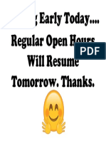 Closing Early Today.docx