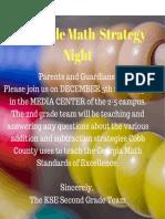 2nd grade math strategy night  1