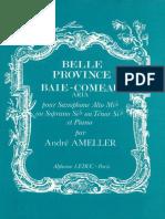 AMELLER Baie-Comeau Aria SaxetPiano Sc