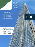 Lift and Escalator Symposium Proceedings 2015