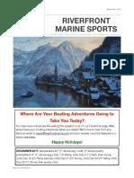 Riverfront Marine Sports Newsletter -- December 2017