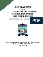 Regulation for Ph.D Programme