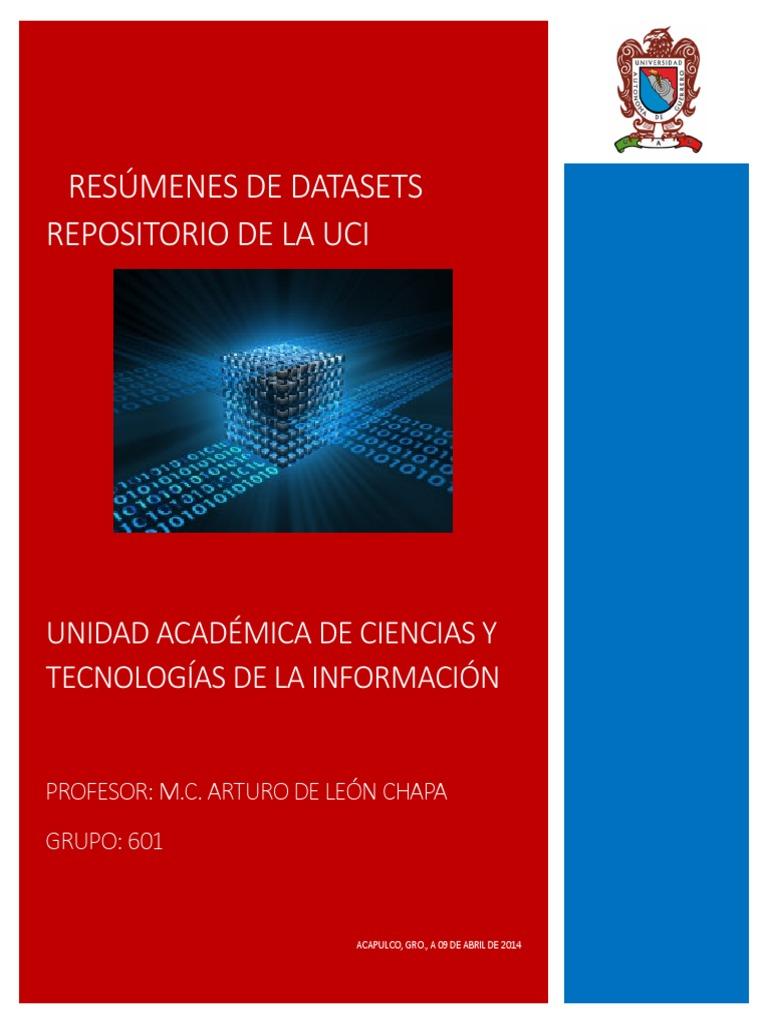 Datasets UCI-Descripcion de Archivos