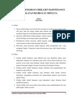 Panduan Pengisian Chek List Sarpras Non Medis Th 2017
