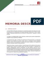 Memoria Descriptiva Av. Peru
